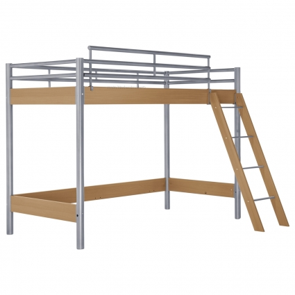 hasena midi 301 hochbett 90 cm buche mit treppe bei mein kinderzimmer ch kaufen. Black Bedroom Furniture Sets. Home Design Ideas