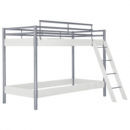 hasena midi 304 etagenbett weiss 90 cm mit treppe bei mein kinderzimmer ch kaufen. Black Bedroom Furniture Sets. Home Design Ideas