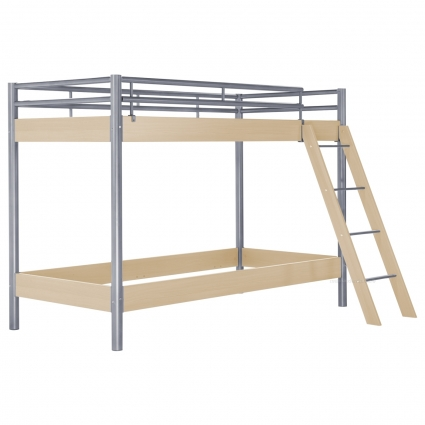 hasena midi 304 etagenbett ahorn 90 cm mit treppe bei mein kinderzimmer ch kaufen. Black Bedroom Furniture Sets. Home Design Ideas