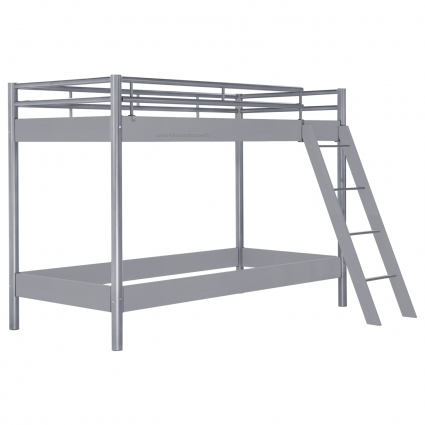 hasena midi 304 etagenbett grau 120 cm mit treppe bei mein kinderzimmer ch kaufen. Black Bedroom Furniture Sets. Home Design Ideas