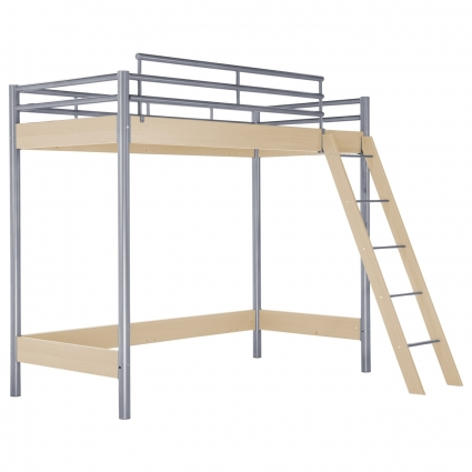hasena maxi 401 hochbett ahorn 120 cm mit treppe bei mein kinderzimmer ch kaufen. Black Bedroom Furniture Sets. Home Design Ideas