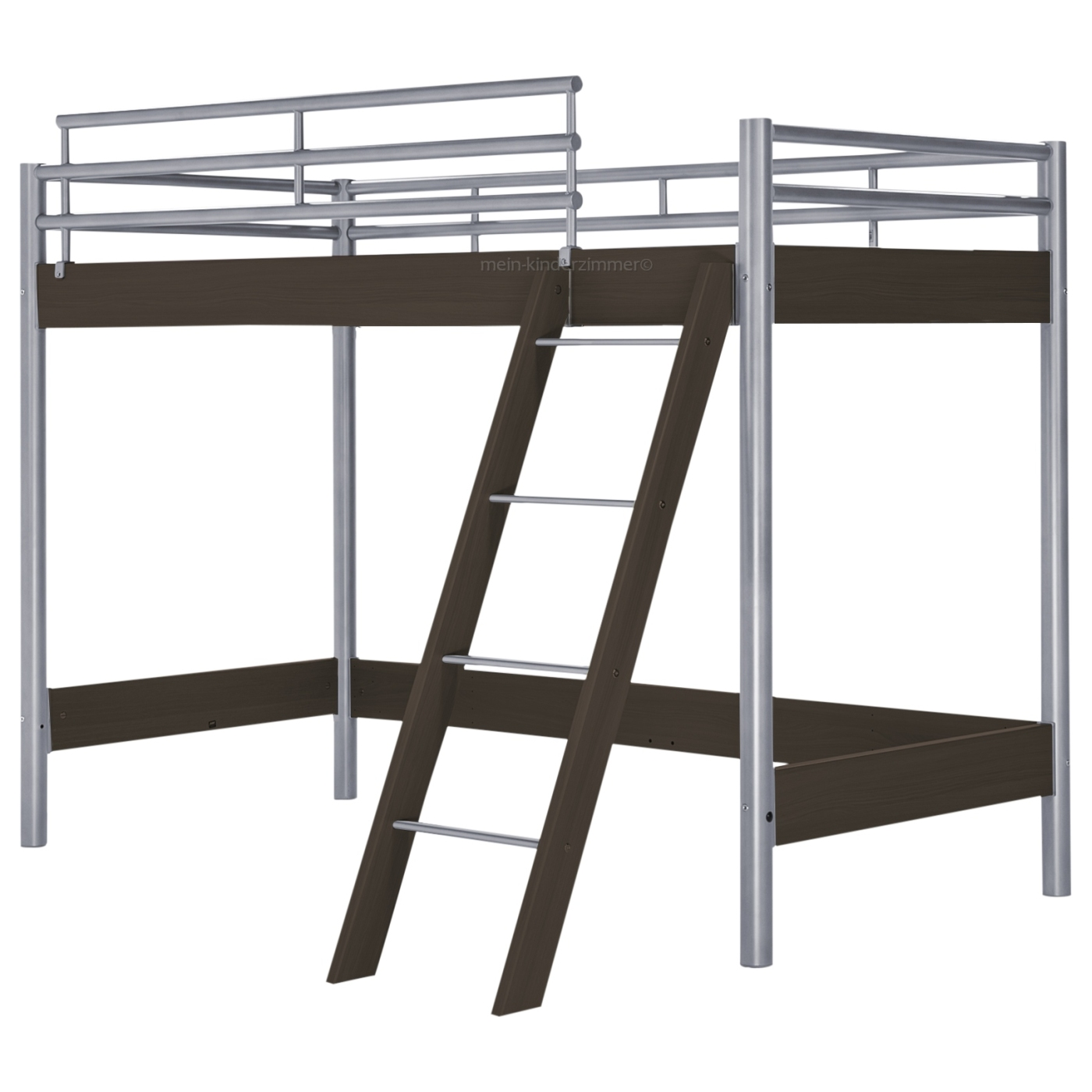 hasena midi 301 hochbett 90 cm ferrara wenge mit treppe bei mein kinderzimmer ch kaufen. Black Bedroom Furniture Sets. Home Design Ideas